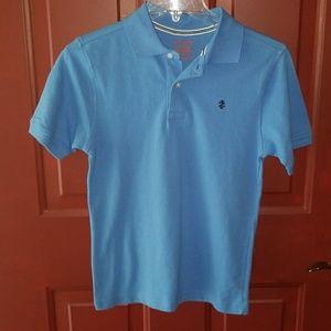IZOD Boy's Polo Shirt Light Blue Size 10/12 Medium